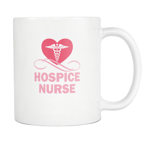 teelaunch 11oz White Mug Hospicenurse(White) Hospice Nurse Coffee Tea Mug White 11 oz