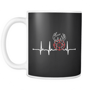 Hunting Heartbeat Coffee Tea Mug White 11 oz
