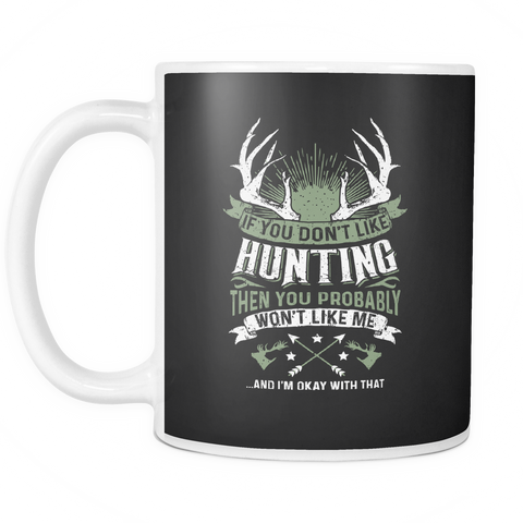 teelaunch 11oz White Mug Huntinglike(white) Hunting Like Coffee Tea Mug White 11 oz