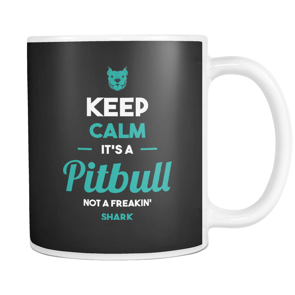 teelaunch 11oz White Mug Keepcalmpitbull(White) Keep Calm Pitbull Coffee Tea Mug White 11 oz