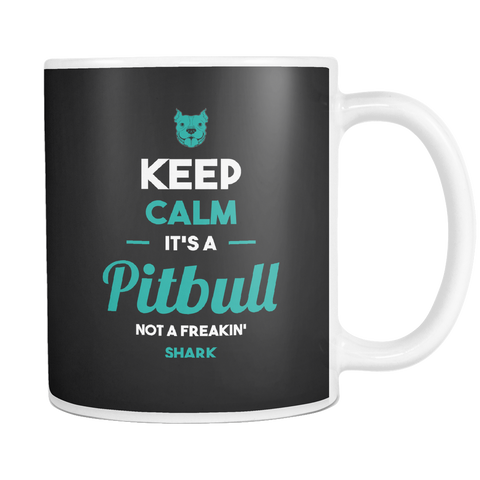 Image of teelaunch 11oz White Mug Keepcalmpitbull(White) Keep Calm Pitbull Coffee Tea Mug White 11 oz