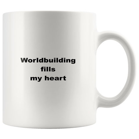 Image of teelaunch 11oz White Mug kwe Worldbuilding Coffee Tea Mug White 11 oz