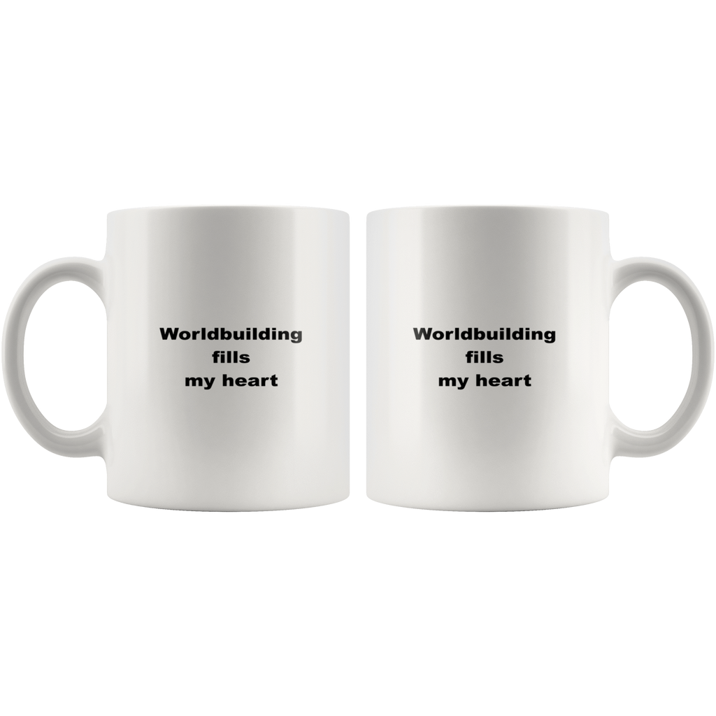 teelaunch 11oz White Mug kwe Worldbuilding Coffee Tea Mug White 11 oz