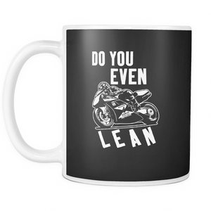 Lean Motorcycle Coffee Tea Mug White 11 oz