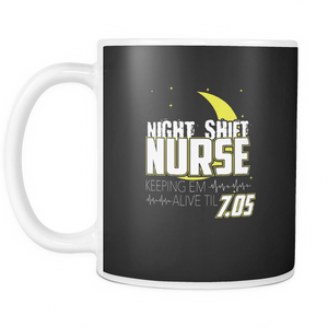 Night Shift Nurse Coffee Tea Mug White 11 oz