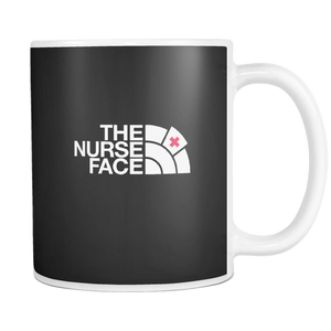 teelaunch 11oz White Mug Nurse face The Nurse Face Coffee Tea Mug White 11 oz