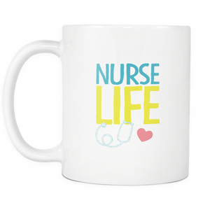 Nurse Life Coffee Tea Mug White 11 oz