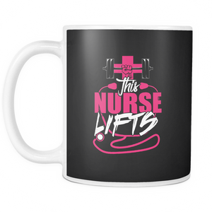 Nurse Lifts Coffee Tea Mug White 11 oz
