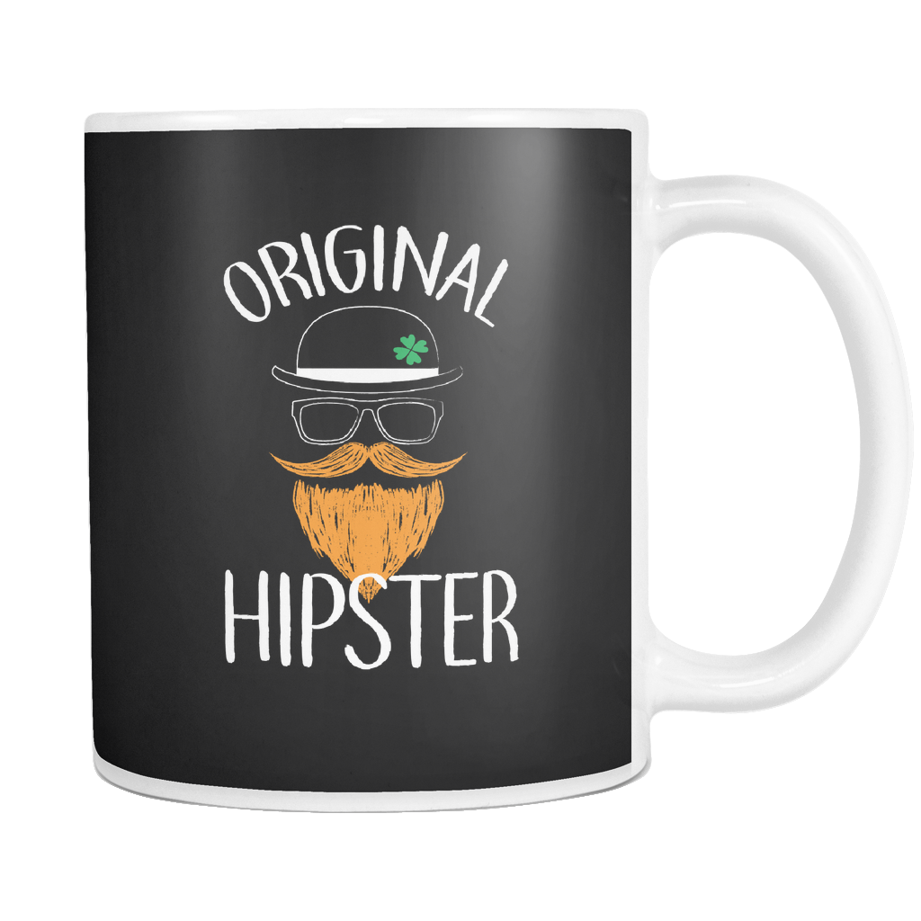 teelaunch 11oz White Mug Originalhipster(White) Original Hipster Coffee Tea Mug White 11 oz