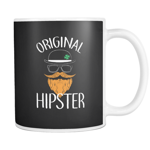 Image of teelaunch 11oz White Mug Originalhipster(White) Original Hipster Coffee Tea Mug White 11 oz
