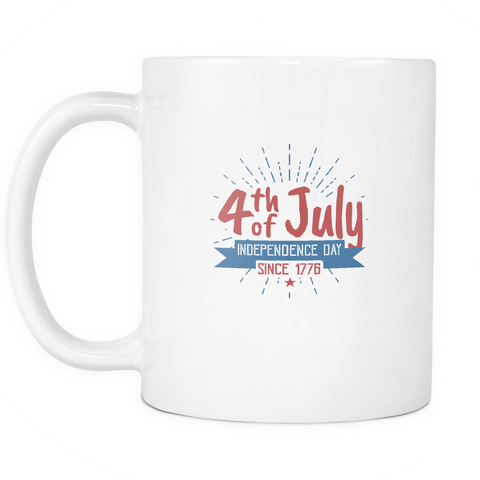 teelaunch 11oz White Mug SInce 1776 Since 1776  Coffee Tea Mug White 11 oz