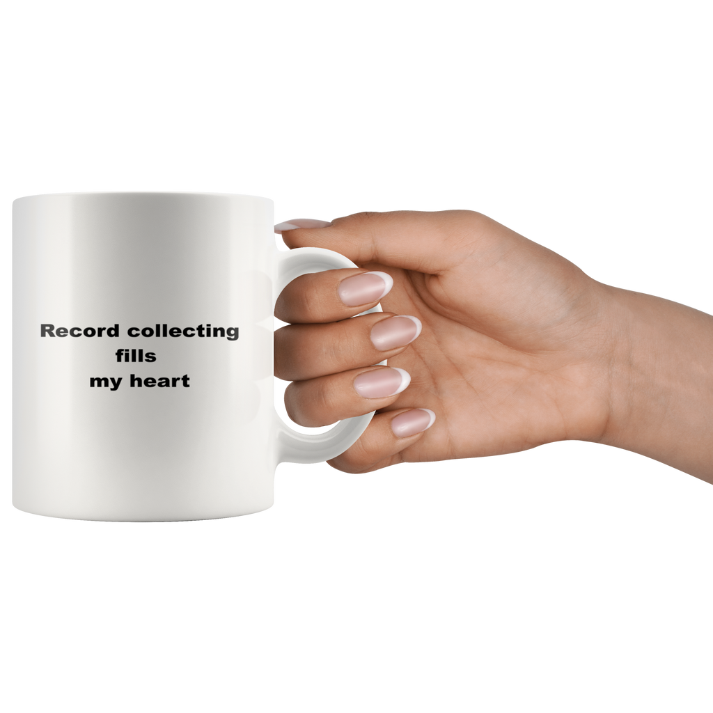 teelaunch 11oz White Mug wafw Record Collecting Coffee Tea  Mug White 11 oz