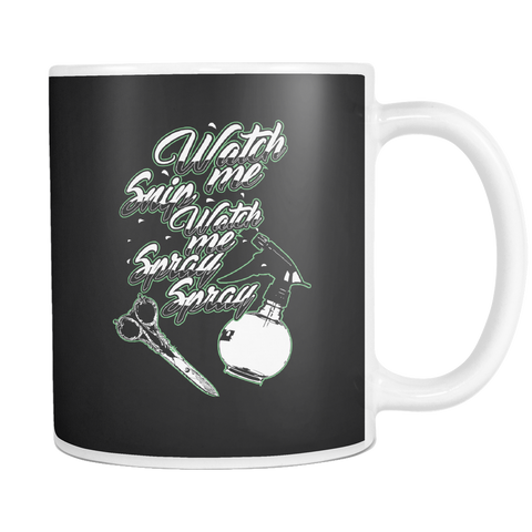 teelaunch 11oz White Mug Watchmesnip(White) Watch Me Snip Coffee Tea Mug White 11 oz