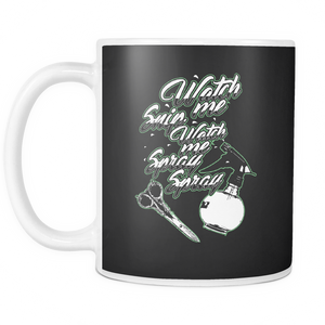 Watch Me Snip Coffee Tea Mug White 11 oz