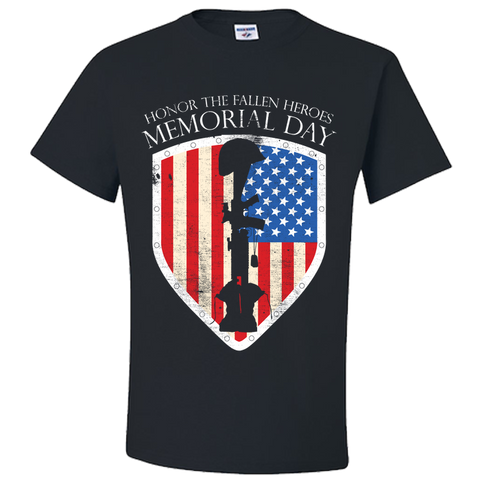 PrintTech Adult Unisex T-Shirt S / Black Adult Unisex T-Shirt - Honor The Fallen Heroes Memorial Day - Veteran T-Shirt