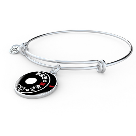 ShineOn Fulfillment Bangles Adjustable Bangle / No Luxury Steel Charm Bangle - Camera Setting (Round)
