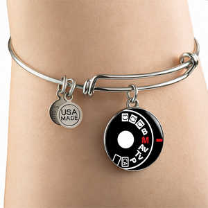 Luxury Steel Charm Bangle - Camera Setting (Round)