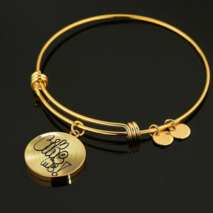 Luxury Steel Charm Bangle - Like Me (Round)