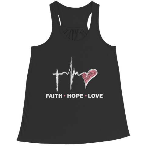 Image of PT Bella Flowy Racerback Tank Bella Flowy Racerback Tank / Black / S Faith Hope Love (Ladies Racerback Tank)