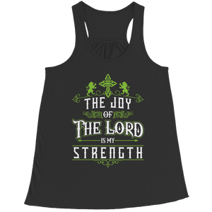 PT Bella Flowy Racerback Tank Bella Flowy Racerback Tank / Black / S The Joy Of The Lord (Ladies Racerback Tank)