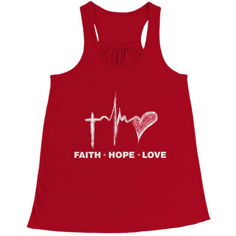Image of PT Bella Flowy Racerback Tank Bella Flowy Racerback Tank / Red / S Faith Hope Love (Ladies Racerback Tank)