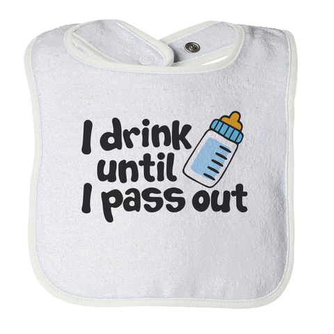 PT Bibs Bibs / White / O/S Cry Drink Pass Out