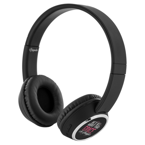 teelaunch Bluetooth Headphones Headphones Bluetooth Headphones - All About That Grace Black