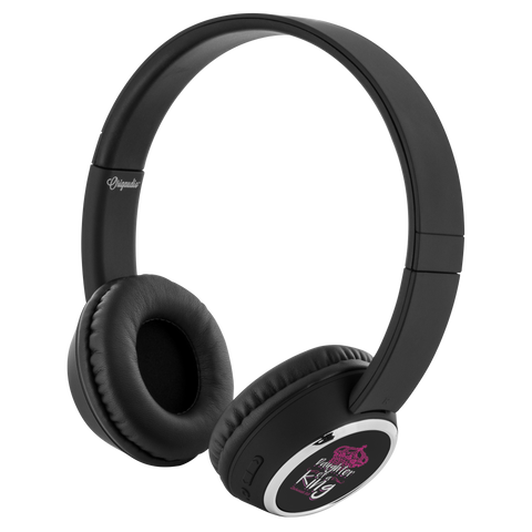 teelaunch Bluetooth Headphones Headphones Bluetooth Headphones - Daughter Of A King Black