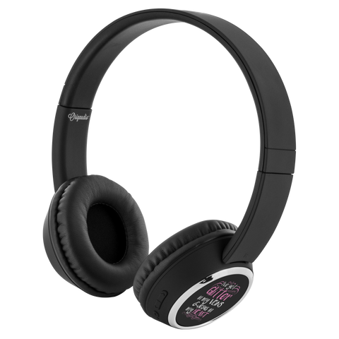 teelaunch Bluetooth Headphones Headphones Bluetooth Headphones - Glitter In My Veins Black