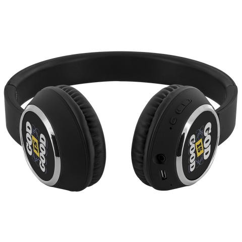 teelaunch Bluetooth Headphones Headphones Bluetooth Headphones - God Is Good Black
