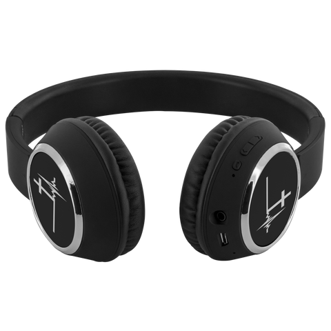 teelaunch Bluetooth Headphones Headphones Bluetooth Headphones - Heartbeat Cross Black