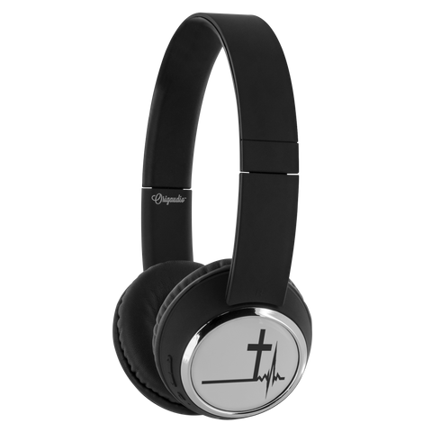 teelaunch Bluetooth Headphones Headphones Bluetooth Headphones - Heartbeat Cross