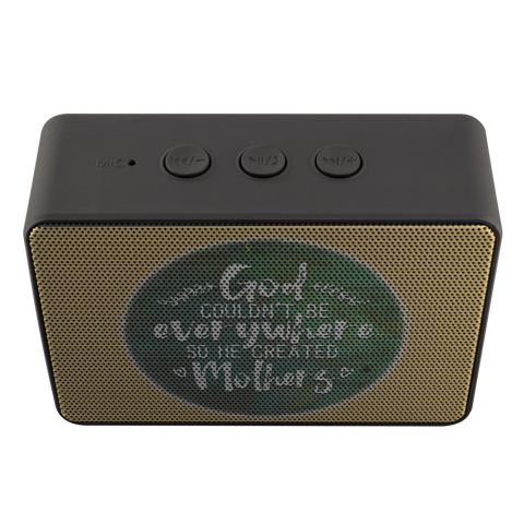 teelaunch Bluetooth Speaker Bluetooth Speaker Bluetooth Speaker - God Created Mothers