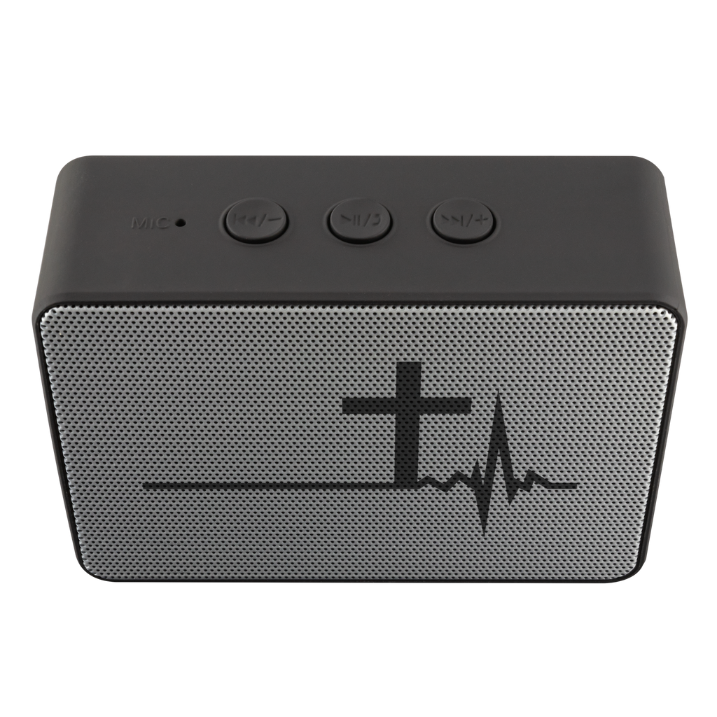 teelaunch Bluetooth Speaker Bluetooth Speaker Bluetooth Speaker - Heartbeat Cross