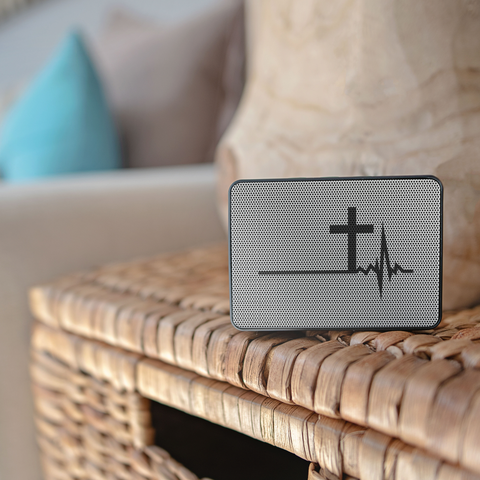 Image of teelaunch Bluetooth Speaker Bluetooth Speaker Bluetooth Speaker - Heartbeat Cross