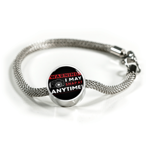 Luxury Steel Mesh Charm Bracelet - I May Snap (Round)