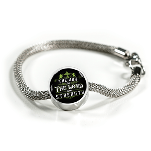 Luxury Steel Mesh Charm Bracelet - Joy Of The Lord (Round)