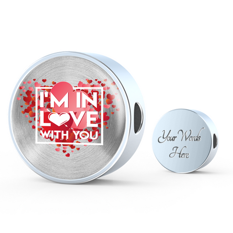 Image of ShineOn Fulfillment Charms Circle Charm / No Luxury Steel Charm - In Love With You (Round)