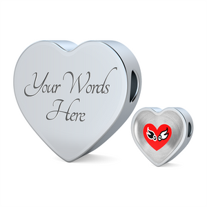 Luxury Steel Charm Heart - Lovewings (Heart)