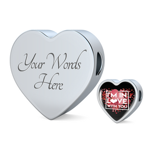 Luxury Steel Charm - In Love With You Black (Heart)