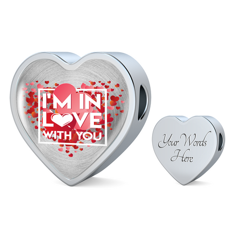 ShineOn Fulfillment Charms Heart Charm Only / No Luxury Steel Charm - In Love With You (Heart)