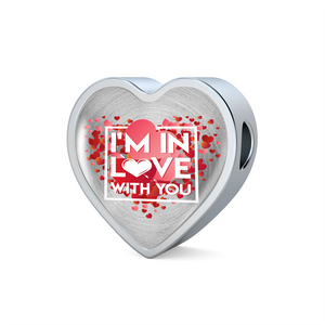 Luxury Steel Charm - In Love With You (Heart)