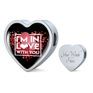 ShineOn Fulfillment Charms Heart Charm Only / Yes Luxury Steel Charm - In Love With You Black (Heart)