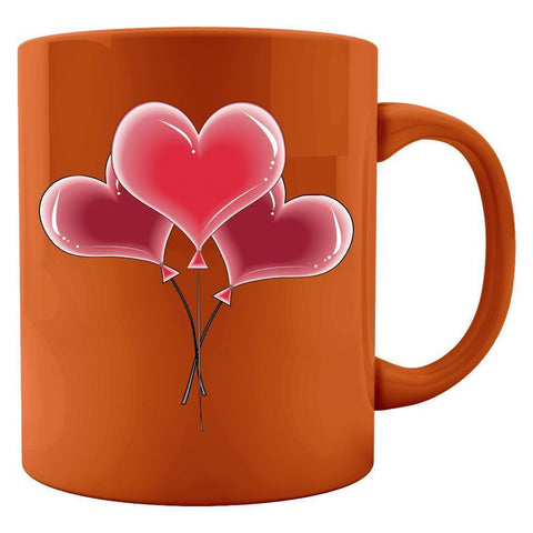 Kent Prints Colored Mug 11oz / Orange Heart balloons universal - Colored Mug