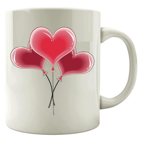 Kent Prints Colored Mug 11oz / White Heart balloons universal - Colored Mug