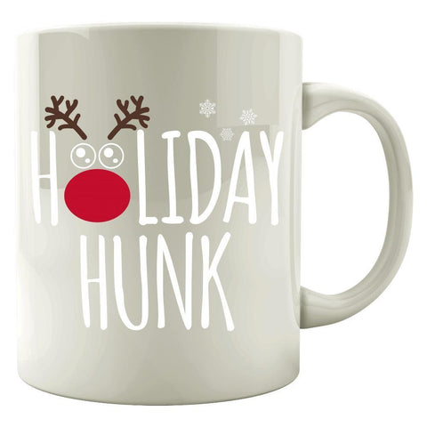 Image of Kent Prints Colored Mug 11oz / White Holiday Hunk Christmas - Colored Mug