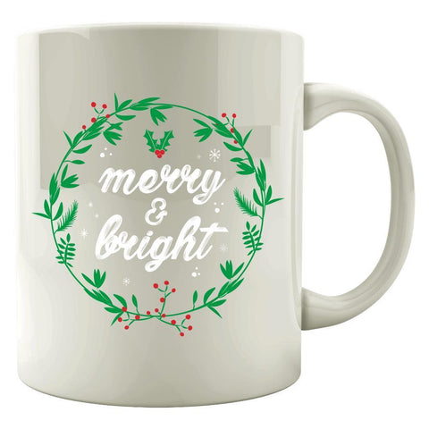 Image of Kent Prints Colored Mug 11oz / White Merry and Bright-FA - Colored Mug