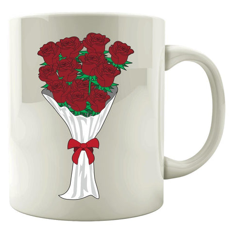 Kent Prints Colored Mug 11oz / White Valentine's Day roses universal - Colored Mug