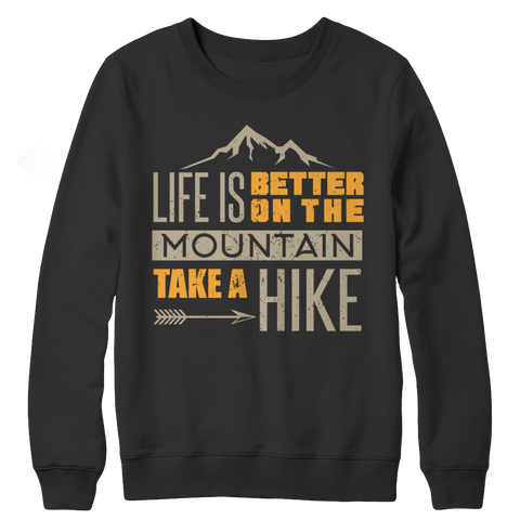 PT Crewneck Fleece Crewneck Fleece / Black / S Life Is Better On The Mountains (Crewneck Fleece)