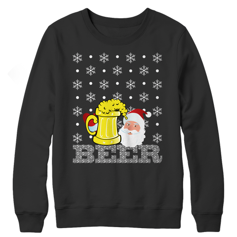 PT Crewneck Fleece Crewneck Fleece / Black / S Limited Edition - Beer Christmas (Crewneck Fleece)